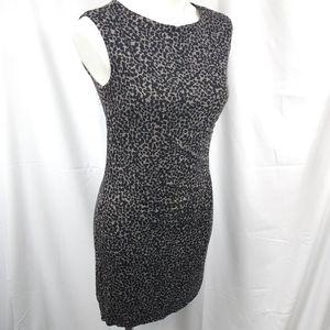 Loft Petites Bodycon Animal Print Dress Sz SP